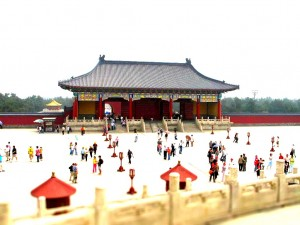 Tilt Shift photo from The Temple of Heaven in Beijing, China